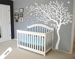 all white tree wall decal huge tree wall decals nursery wall decor baby room murals