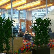 silicon valley office. settling in facebook founder mark zuckerberg is pictured above having a meeting an office silicon valley