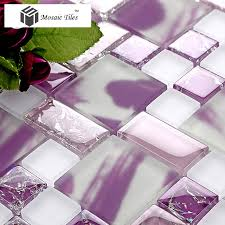 tst crystal glass tiles glass purple glass mosaic tile ice break design home deco art