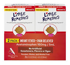 Little Remedies Infant Fever Pain Reliever Natural Berry Flavor 2 Fl Oz 2 Pack