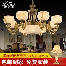get ations the whole european copper marble chandelier living room lighting fixtures restaurant smoke hanging lamps do simple