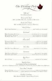 Wedding Program Layout Examples One Page Wedding Program Template