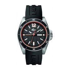 lacoste watch lacoste seattle mens analog watch casual black band 2010799
