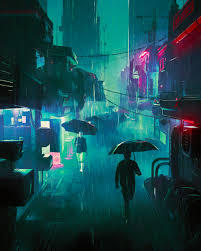 Digital wallpaper of city street, city view during nighttime. Wallpaper Artwork Futuristic Cyber City 1920x2400 Manifico 1745357 Hd Wallpapers Wallhere