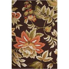 nourison french country chocolate 8 ft x 11 ft area rug