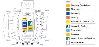 Toledo Rockets Glass Bowl Seating Chart 2019 Spring Commencement Seating