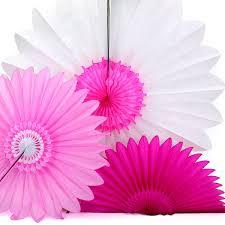 Large Tissue Paper Flower Honeycomb Tissue Paper Flower Fans In Pastel Colours