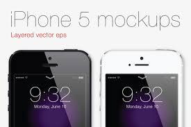 Iphone 5 Mockup Design Free Apple Iphone 5 Mockup With Ios7 Lockscreen Design Ref