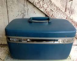 train case samsonite luge blue vine carry on cosmetic case toiletries bag hard s case