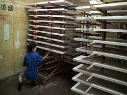 tiltable layer of storage rack for painted glass natural air dry painted work pieces natural air dry