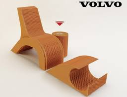 cardboard chair design with legs. Cardboard Chair Inspired By Volvo C30 Design With Legs