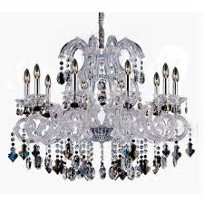 allegri by kalco lorraine chrome 10 light 34 inch wide chandelier with firenze mixed crystal