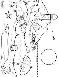 Kids N Fun Kleurplaat Landschappen Strand Kust En Vuurtoren