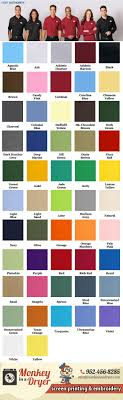 Port Authority Color Chart Port Authority Swatch Color Chart Custom T Shirts From