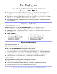 Resume Example Civil Engineering Student New Civil Engineering