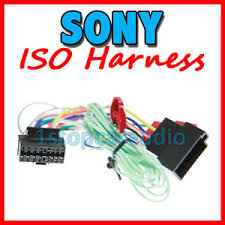 sony iso wiring harness connector lead plug xav 63 xav 64bt xav image is loading sony iso wiring harness connector lead plug xav