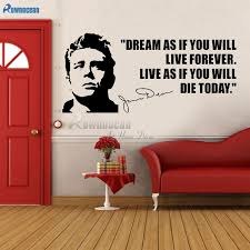 Usa Quotes Simple JAMES DEAN USA ACTOR QUOTES Dream As If You Will Vinyl Wall Art