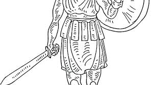 Roman Soldier Coloring Page Soldier Coloring Page Roman Soldier