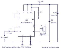 24w amplifier using tda1516 electronic circuits and diagram 24w amplifier using tda1516 circuit