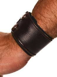 colt leather wrist wallet black