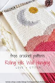 Try one of these 19 crochet wall hanging patterns! The Rolling Hills Wall Hanging Crochet Pattern Love Stitch