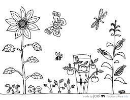 Colour online garden colouring page using our colouring palette and download your coloured page by clicking save image. Garden 166426 Nature Printable Coloring Pages