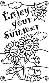 Small Picture Enjoy Your Summer Coloring Page crayolacom