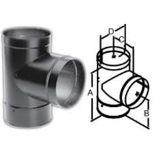 stove pipe cap. durablack tee with clean-out cap wood stove pipe p