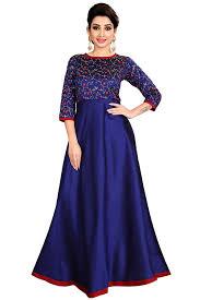 Dress Design Buy Pari Fashion Blue Silk Embroderied Design Womens
