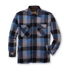 Northwest Territory Men's Quilted Flannel Shirt Jacket - Plaid &  Adamdwight.com
