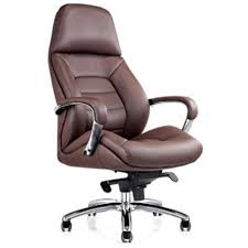 brown leather office chairs. Real Leather-based Workplace Chair. Genuine Leather Office Chair Brown Chairs N