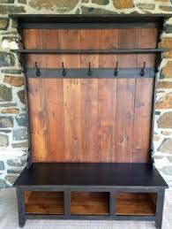 Wooden Coat Rack With Bench Entryway Coat Rack And Bench Made From Pallets Everything DIY 24
