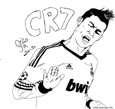 Coloriage Cristiano Ronaldo Football Real Madrid Cr L