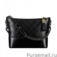 chanel outlet. chanel gabrielle hobo bag a93824 black outlet