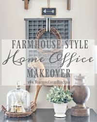 home office style. The Evolution Of A Farmhouse Style Home Office O