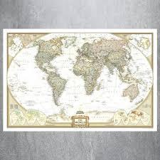 large framed world maps vintage large world map canvas art print painting poster wall picture for living room home decorative large framed vintage world map