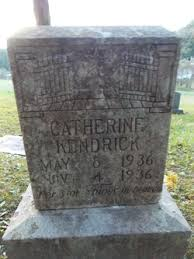 Catherine B. Kendrick (1936-1936) - Find A Grave Memorial