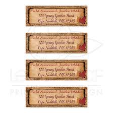 Personalized Fall Wedding Address Labels Dried Leaves Brown