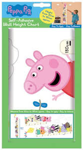 Peppa Pig Wall Height Chart Sticker Decoration Buy Online
