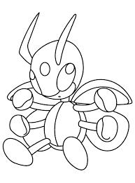 Ledian Pokemon Coloring Page Hellokids Fantastic