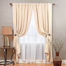 aurora home mix and match blackout with crushed voile sheer 4 piece panel curtain set