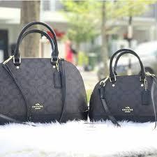 Coach Sierra Satchel In Signature - Black (F58295), Luxury, Bags   Wallets  on Carousell