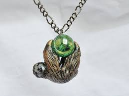 sloth necklace pendant polymer clay