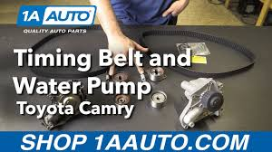 How to Replace Install Timing Belt and Water Pump 1992-01 Toyota ...