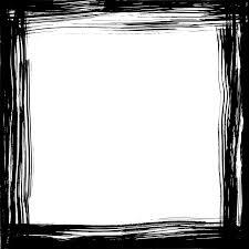 Black Square Grunge Frame Png