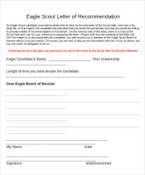 eagle scout candidate letter of recommendation sample eagle scout letter of recommendation 9 download documents