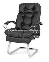 Leather Office Chair No Wheels