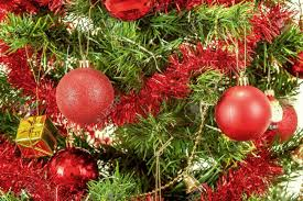 Decorating Christmas Tree With Balls Detail Of Decorated Christmas Tree With Red Balls Stock Photo 92