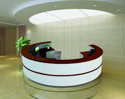 Reception Counter Design Us 3488 0 3 4m 11 15ft Matt Red White Piano Lacquer Half Round Design Reception Counter Desk Qt3410 In Reception Desks From Furniture On Aliexpress