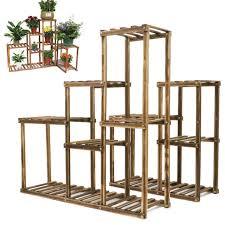 large customizable wood plant stand shelf flower pot holder storage utility rack